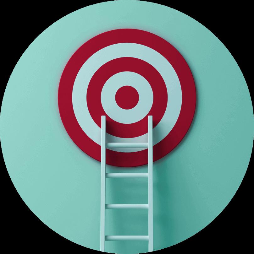 Ladder up to target image