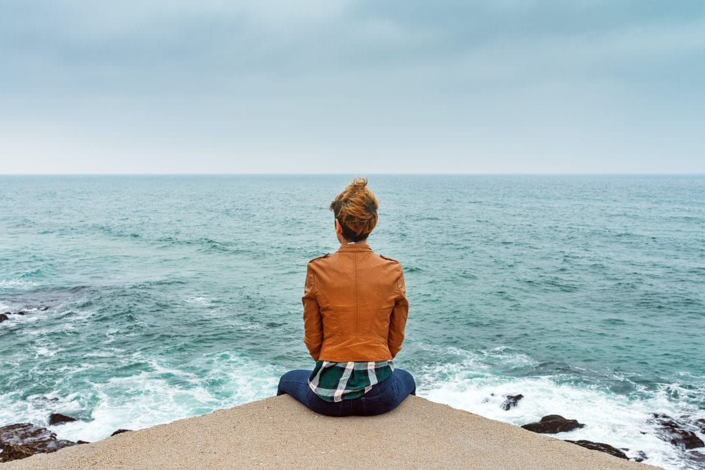 listen person sitting by water career transition knowing when to change switch jobs